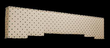 polka dot padded cornice box design
