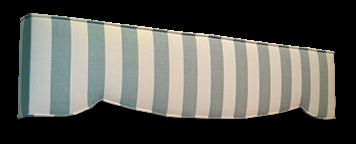 striped design of padded cornice box