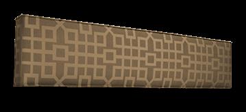 padded cornice box design pattern