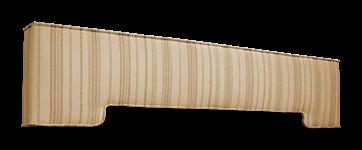 striped padded cornice box design