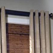 flowing drapery pleat style