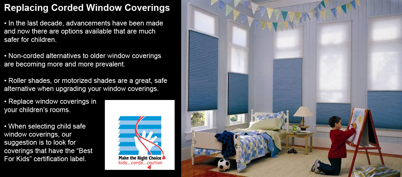 Replacing Corded Window Coverings