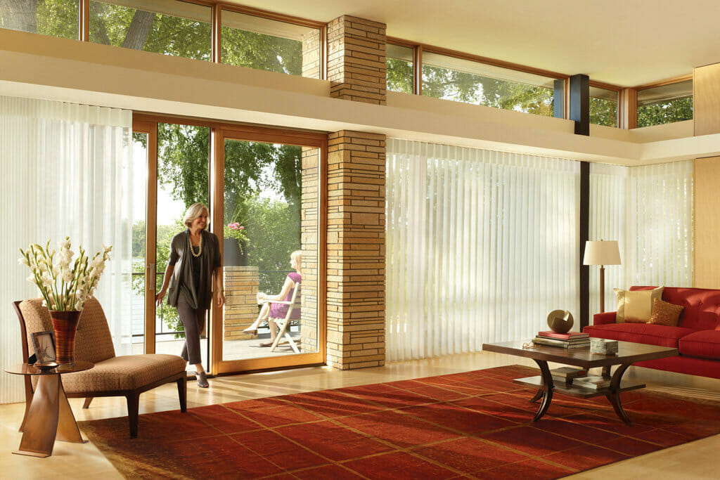 French Door Blinds Shades Patio Sliding Glass Window Treatments