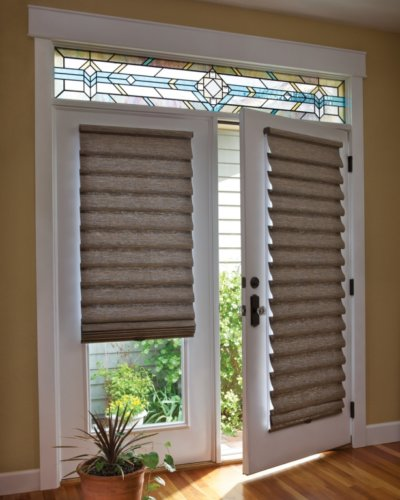 Roman Shades on French Door