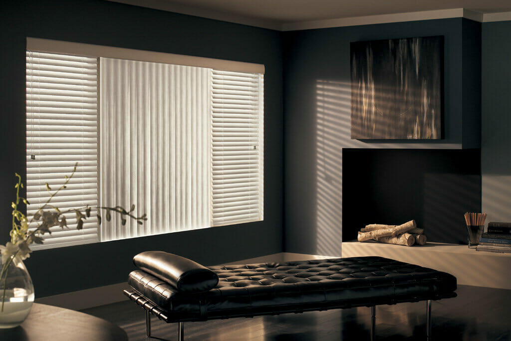 Custom Vertical Window Blinds Stylish Fabric Or Durable