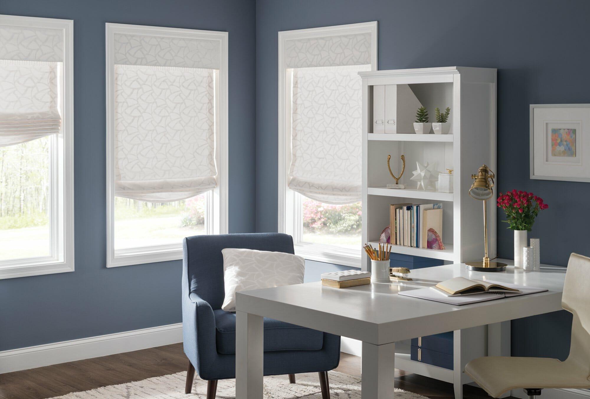 Home Office Window Treatments California 3 Blind Mice