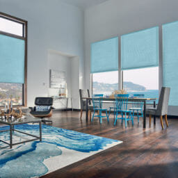 """1/2"""" Double Cell Cellular Shades with Motorized Lift: Splendor, Endless Summer 1556"""