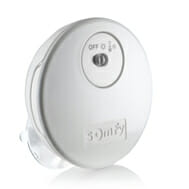 The Somfy Sun Sensor allows for automatic operation of motorized interior window coverings according to the amount of sunlight and the temperature of the room.