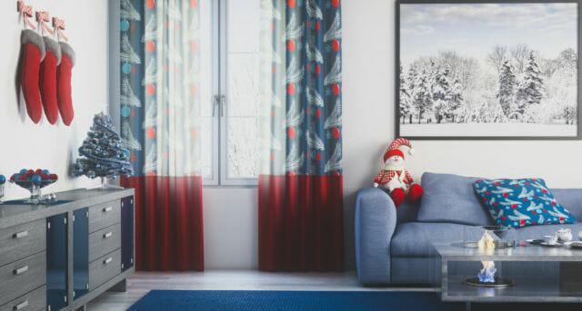 Christmas Living Room (Toned Image)