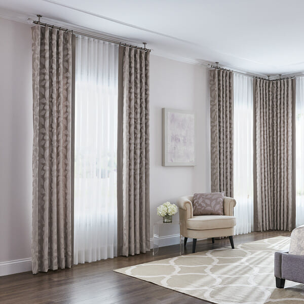 How to layer two sets of curtains