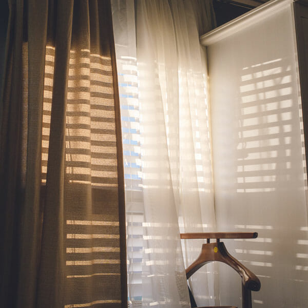 Light-filtering curtains allow in a medium amount of light
