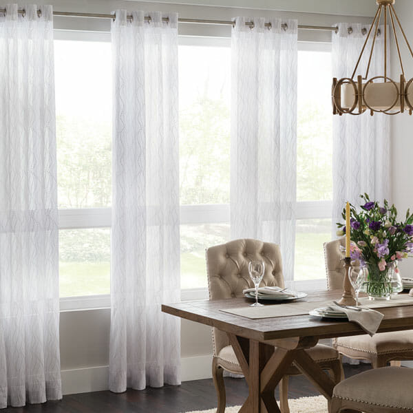 Sheer curtains let in the most light