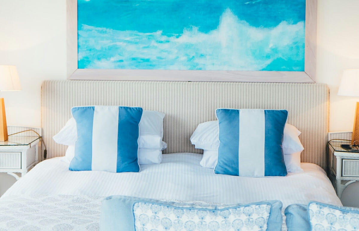 A nautical room is a sure way to invite summer