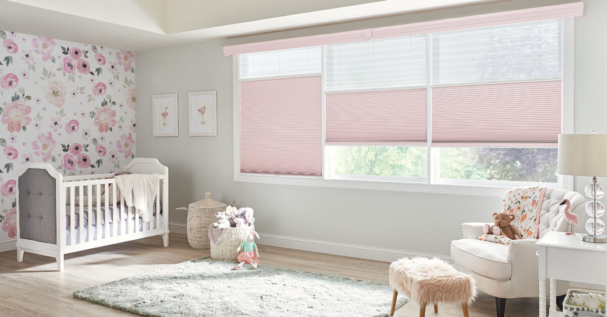 Cellular shades come in child-safe cordless and motorized options!