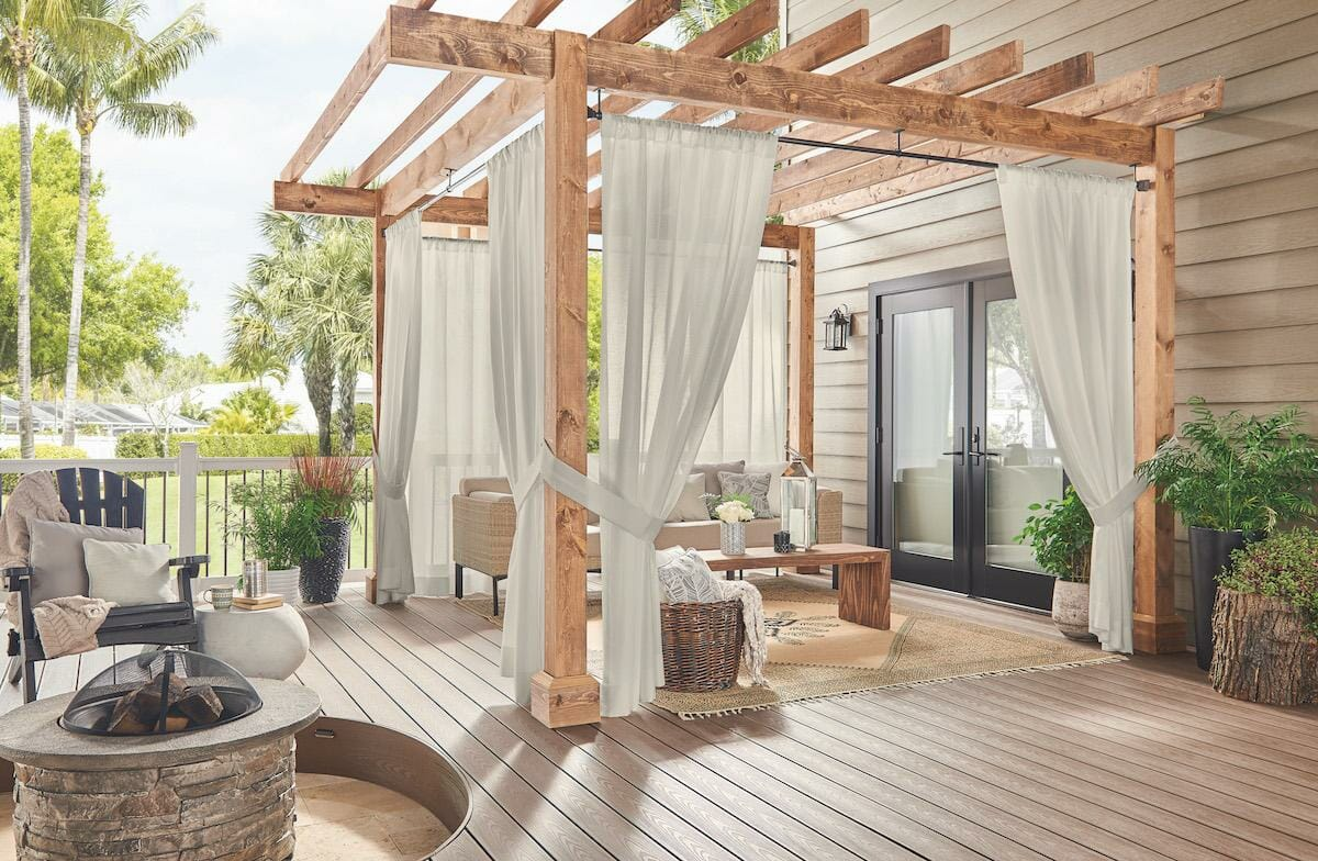 Create the perfect party patio with outdoor curtains