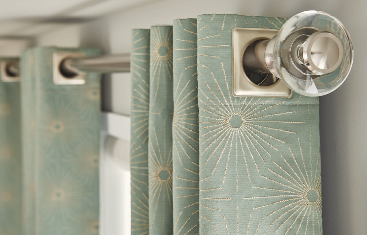 Hardware makes a big impact on the overall look, especially with curtains.