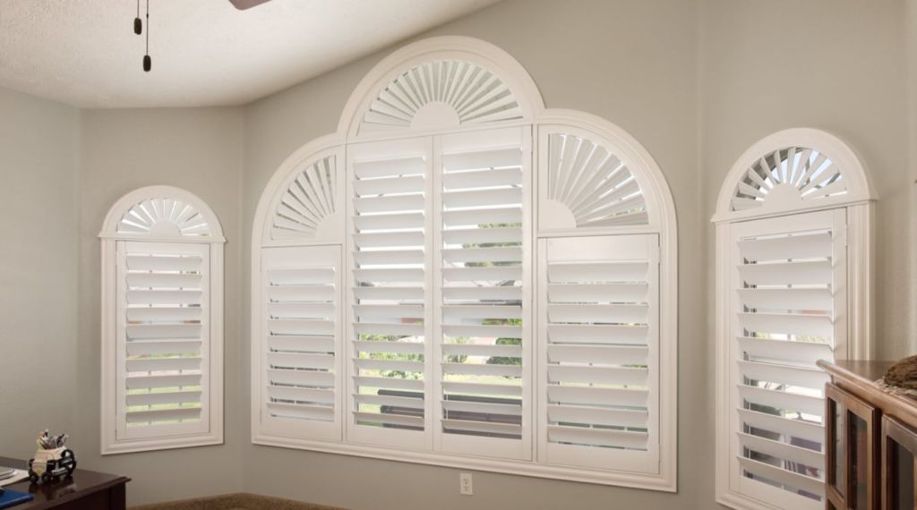 Arched shutters for unique shaped window