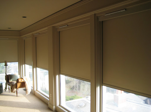 blackout roller shades with side channel